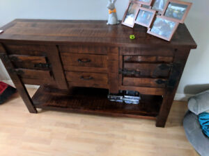 Solid Wood Sideboard/Table/Cabinet