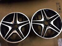"""2x 18"""" Mercedes CLA 220 Alloy Wheels"""