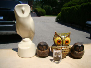 Lot of Vintage Owls