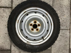 4 winter tires with rims ; will fit Subaru Oubacks and others