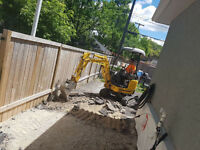 Mini excavator and bobcat excavation services
