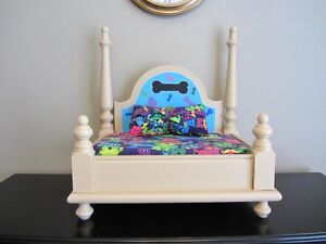 Custom made pet beds from end tables