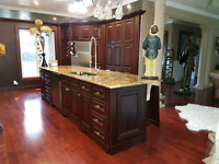 Kitchen cabinets spray painting