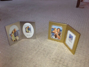 Two foldable picture frames