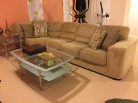 The Brick microfibre sectional very good condition