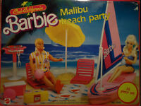 barbie sets doll pool party rockers california