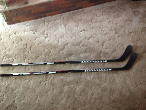 2 Pro Stock Warrior QR1 Painted as HD1 Hockey Sticks LH