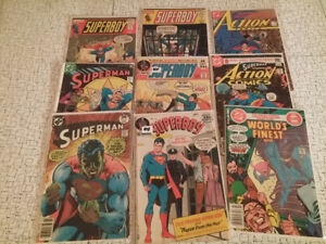 1970's Superman Superboy Lot of 8 Comic Books – located in Simco