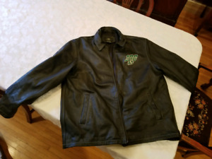 Sask Roughrider men's leather jacket, size XL