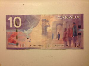 RARE ERROR NOTE - Wrong Security Features...SOLD Kitchener / Waterloo Kitchener Area image 3