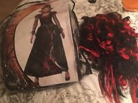 Ladies and gents vampire outfits with wigs