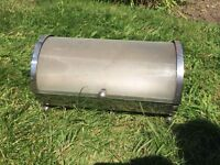 Chrome and frosted glass bread bin