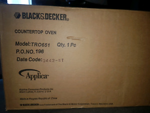 BNIB sealed countertop toaster oven