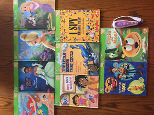 Leap frog pen and 9 books