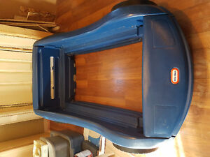 Little tikes toddler car bed and tool chest dresser