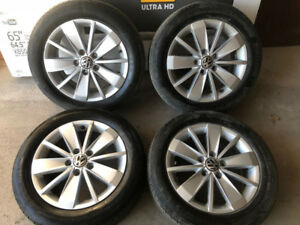 205/55/16 VW Jetta OEM Mags With Continental Summer Tires