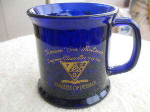 [2006] KNIGHTS of PYTHIAS COBALT BLUE COLLECTOR'S STEIN