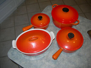 Le Creuset cooking pans