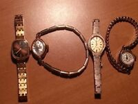 4-70's Ladies Watches All 4 for $80