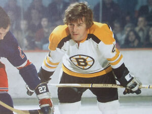 BOBBY ORR #4 BOSTON BRUINS LARGE FRAMED GICLEE CANVAS FACEOFF London Ontario image 2