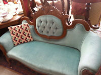 VICTORIAN MAHOGANY SETTEE (JUST ARRIVED )