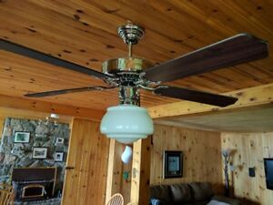 """52"""" Ceiling Fan and Light with remote controller"""