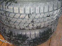 two 195/65/14 winter tires on mazda rims 98% tread