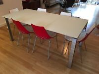 Extending Dining Table & chairs by Calligaris