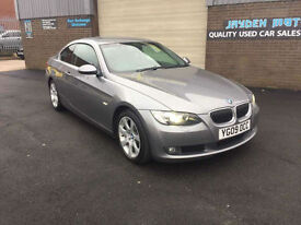 2009 BMW 325 3.0TD d SE AUTOMATIC PADDLE SHIFT COUPE,FULL LEATHER INTERIOR,