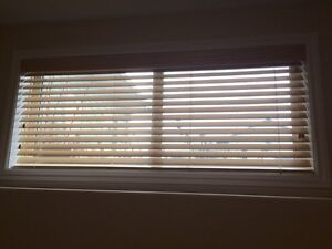 Maple Faux Wood Blinds ( smoke free home)