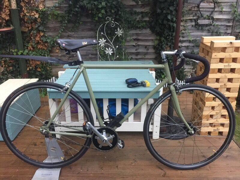 Classic Road bikein Cambridge, CambridgeshireGumtree - Single speed custom built,531 frameset,new powder coated,Handbuilt wheels,Mavic rims on Gran Compe hubs,new Continental tube/tyres,105 chainset,new brakeset,pedals,barclothe,new cog and chain.Grab a bargain,selling cheap for a new project