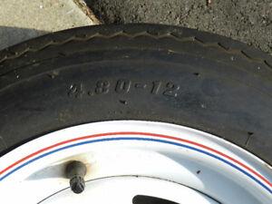 Boat trailer tire 4-80-12