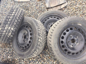 """Winter tires and Rims 16""""  Bolt pattern 5x112"""