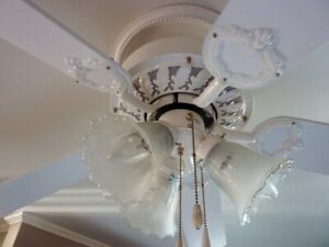 ceiling fan light fixture  excellent condition working
