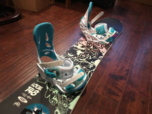 Snowboard Size 148 - with Bindings!
