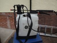 Backpack sprayer with straps and hose complete