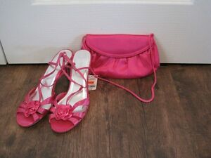 New! Le Château sandals size 10 and matching pink purse