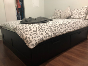 Queen BED Frame with STORAGE!