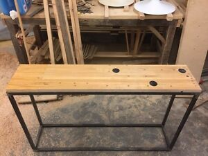 Custom sofa table with bowling alley top