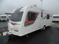 2014 Bailey Unicorn 2 Valencia 4 berth caravan fixed bed
