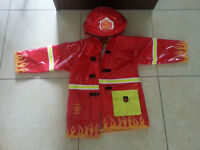 Kidorable Fireman Rain Jacket (sz 4/5) and Boots (sz 13)