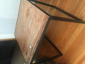 2 Wood/Iron Side Tables