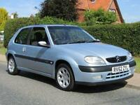 2002 Citroen Saxo 1.6i VTR 3DR HATCHBACK ** FULL HISTORY * SUN ROOF ** 3 door...