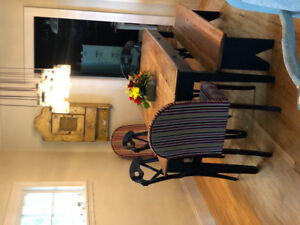Dining room table and chairs with bench included