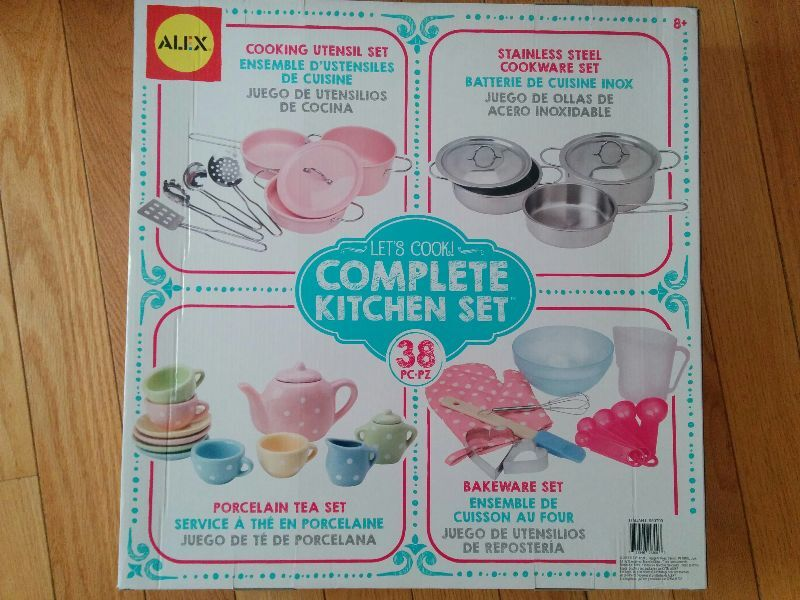 new alex toys pretend play 38pcs complete kitchen set
