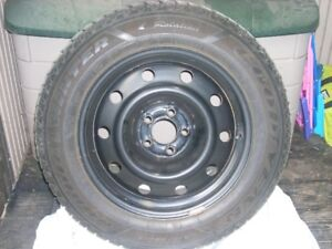 Winter Snow Tires mounted on Steel Rims