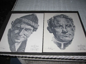 Nicholas Volpe 1962 Charcoal Sketches Of Oscar Winners...Art