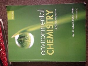 Environmental chemistry: a global perspective 3rd edition