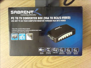 Sabrent PC to TV Converter Box vga to rca  S-Video