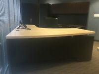 Gorgeous Office Suite - Desk, Hutch, Shelving, Closet Watch|Shar